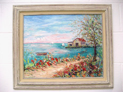 The Boathouse- with frame