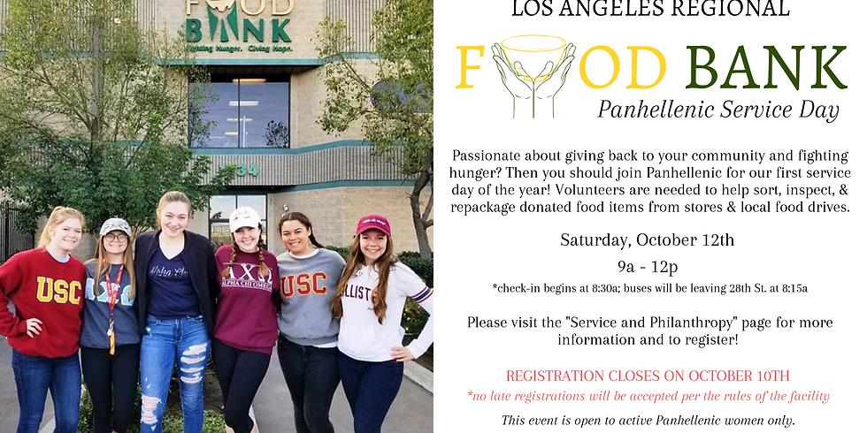 Panhellenic Service Day - LA Food Bank