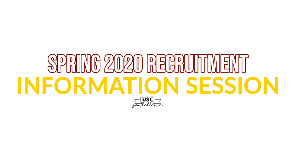 Spring Recruitment Information Session
