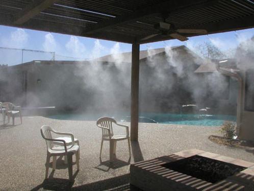 Охлаждение туманом зоны отдыха