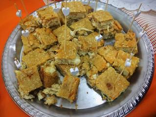 Torta líquida de palmito com shimeji