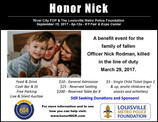 Honor Officer Nick Rodman - A Benefit for Community Hero Killed in the Line of Duty