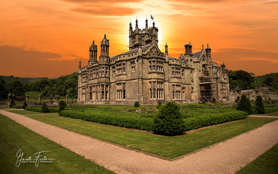 sunrise over margam castle