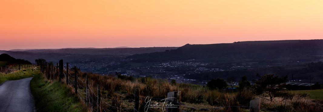 sunset over neath valley