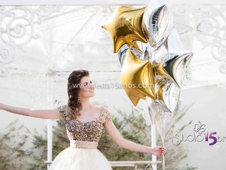Fotos de 15 Anos com balões