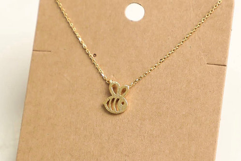 "16"" Gold Bee Necklace"