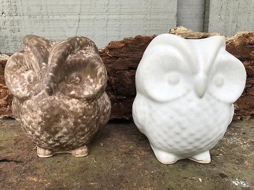 Large Delta C Ceramic Owl
