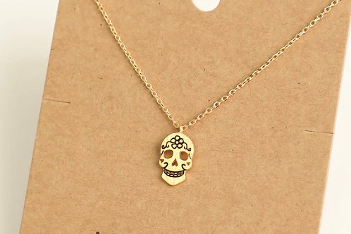 "16"" Skull Candy Gold Chain Necklace"