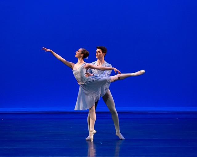 Advanced Ballet Student Matthew, partnering guest dancer Diana, 2019