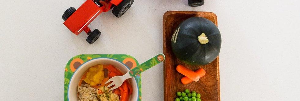 One Pot Chicken dinner, Brown Rice, Carrots & Gem Squash- 150gr