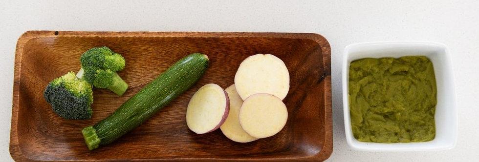 Sweet Potato with Baby Marrow, Broccoli – 80gr