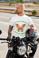 "With your purchase of a ""Healing Nurses Across America"" t-shirt, 100% of net proceeds go to the American Nurses Foundation, allowing our nurses to get the proper mental, spiritual and emotional help they need  and deserve 