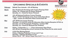 Upcoming Specials & Events