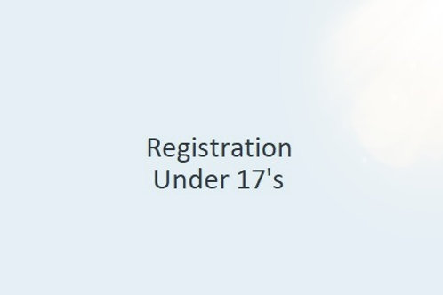 Registration - Under 17.5's