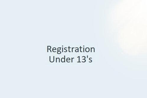 Registration - Under 13.5's