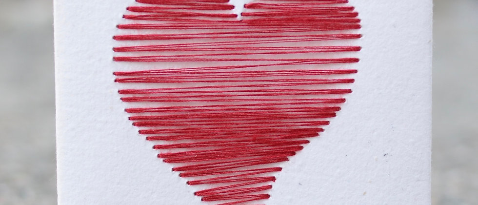Red tread heart