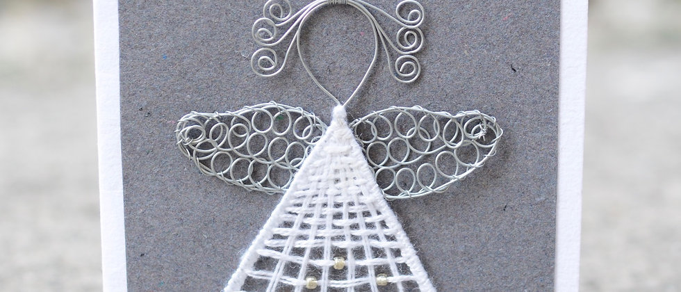 Wire Angel on Grey