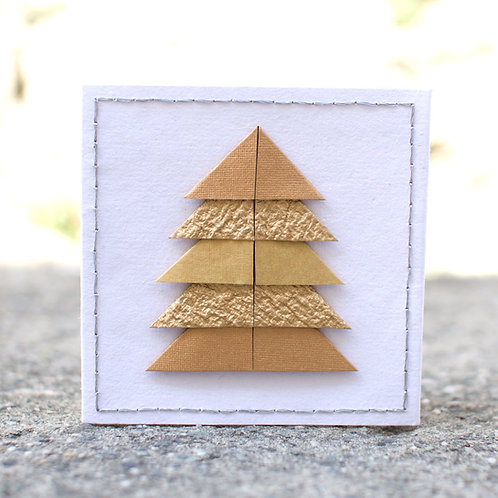1278 - Gold Christmas Tree