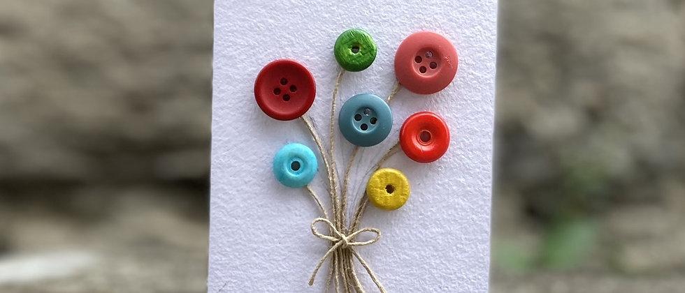 Knappe blomst kort