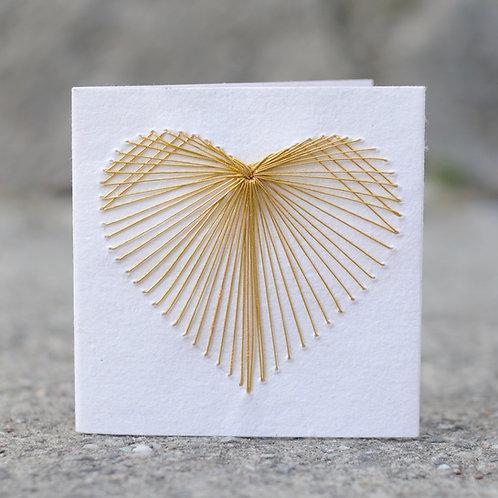 1140 - Gold heart thread