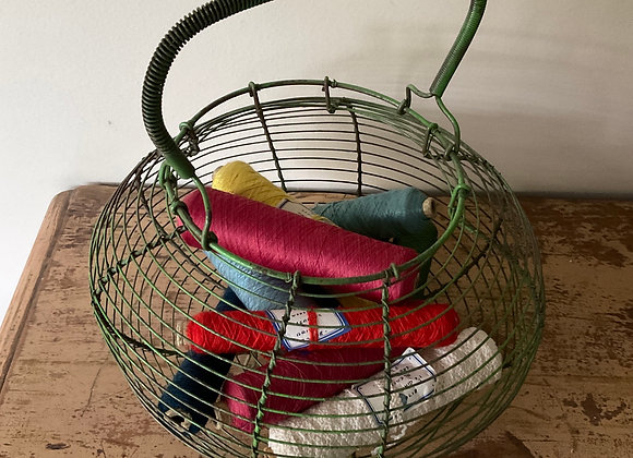 Thread Spools and French Egg Basket