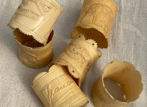 C.1890 Bovine Napkin Rings