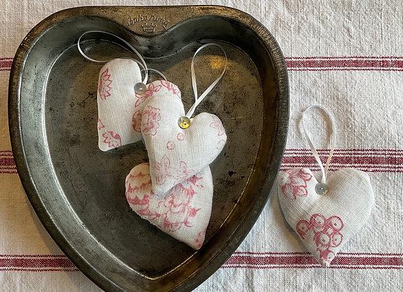 French Linen Lavender Heart