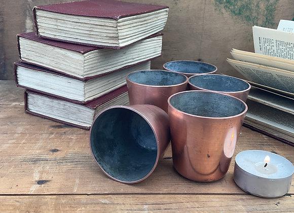Copper Dariole / Pudding Moulds