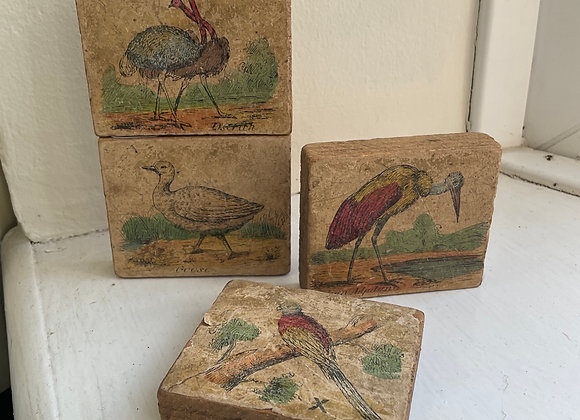Wooden Bird Puzzle Blocks