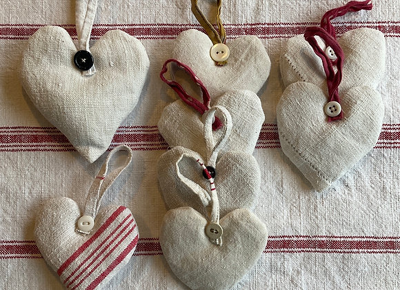 French Linen Lavender Hearts