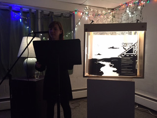 "A scrolled panorama or ""cranky"" at the Moon Tunnel reading series"