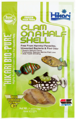 Hikari Clam on a Half Shell Frozen Fish Food