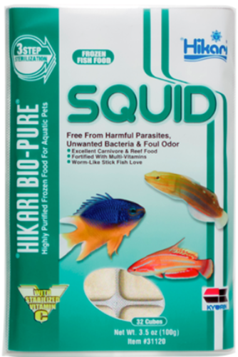 Hikari Bio-Pure Frozen Squid Chunks Food