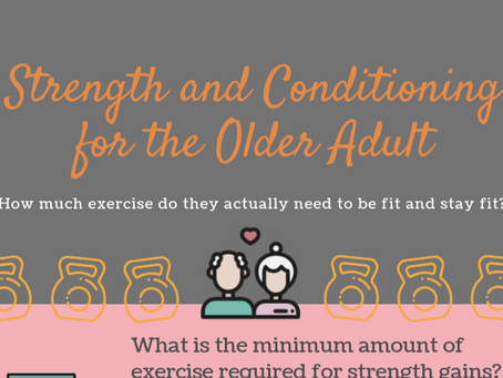 What we currently know about strength and conditioning for the older adult..