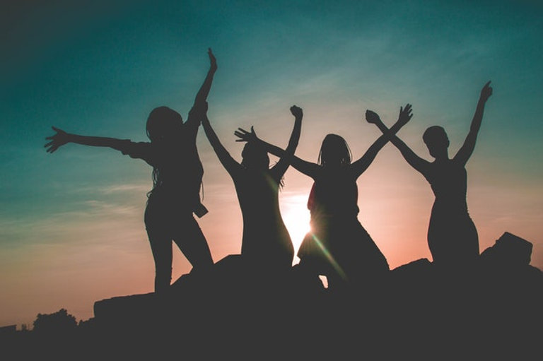 women group silhouette pexels-dennis-mag