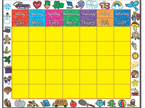 Calendar: Kid-Drawn Border Calendar