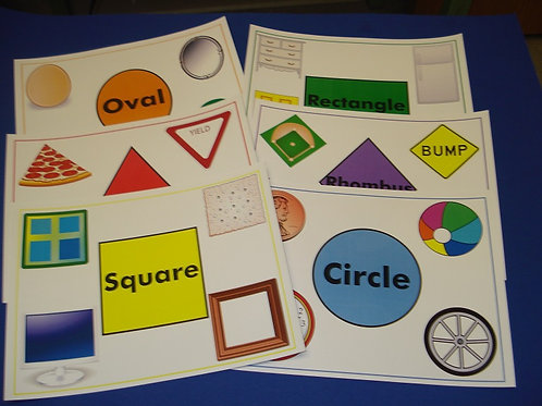 REAL SHAPE FLASHCARDS