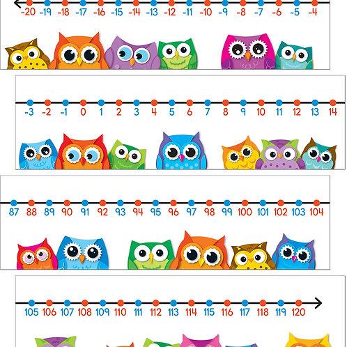 Colorful Owls Number Line