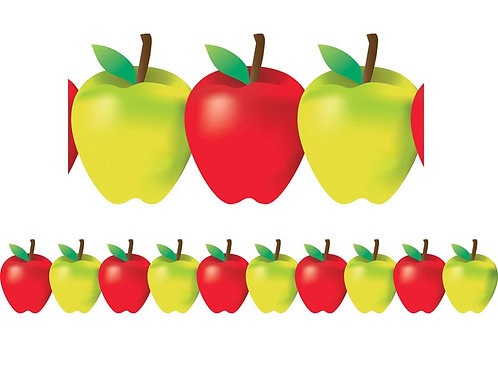 Red and Green Apple Border