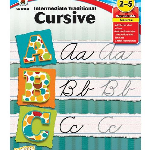Intermediate Traditional Cursive Workbook