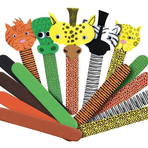 Wild Animal Craft Sticks