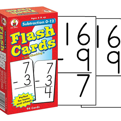 Subtraction Flashcards 0-12