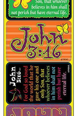 John 3:16 Applause STICKERS® – Large