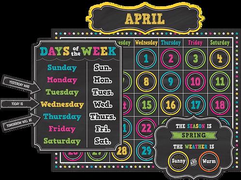 Chalkboard Brights Calendar