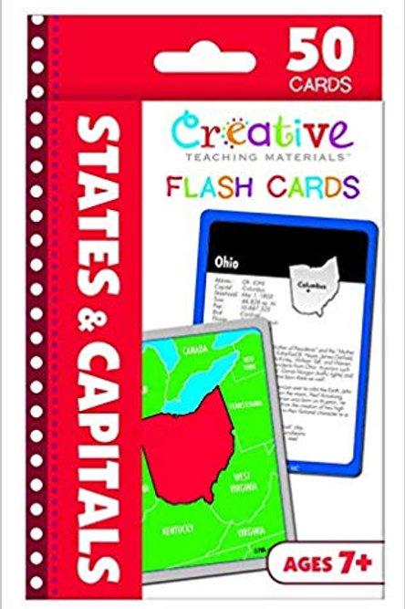 States Capitals Flash Card