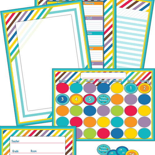 Color Me Bright Bulletin Board Set