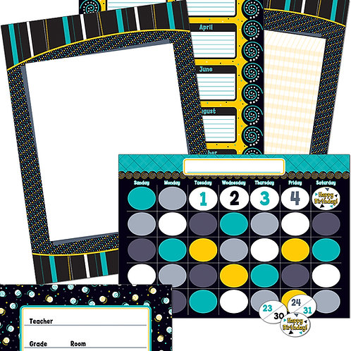 Black, White & Bold Bulletin Board Set