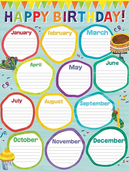 World of Eric Carle™ Birthday Chart