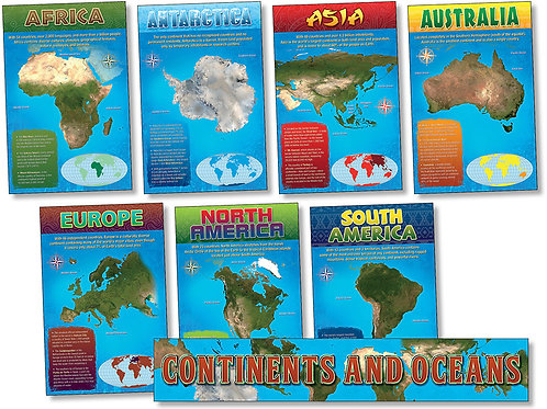 Continents and Oceans Bulletin Board