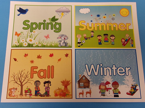Four Seasons Flashcards Small
